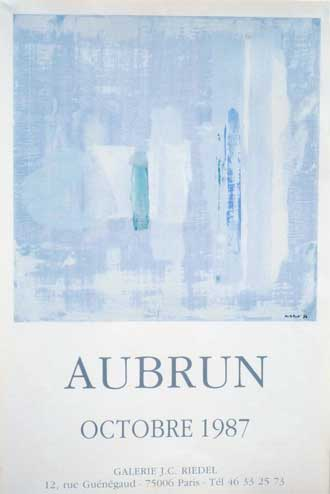 Aubrun Gallery poster JC Riedel, 1987